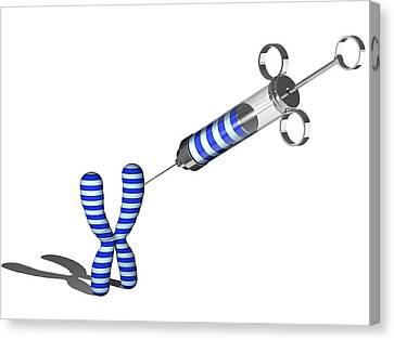 Gene Therapy, Conceptual Artwork Canvas Print by Laguna Design