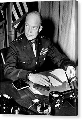 General Dwight D. Eisenhower, January Canvas Print by Everett
