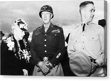 General George S. Patton Jr. Center Canvas Print by Everett