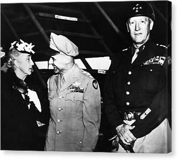 General George S. Patton Jr. Right Canvas Print by Everett