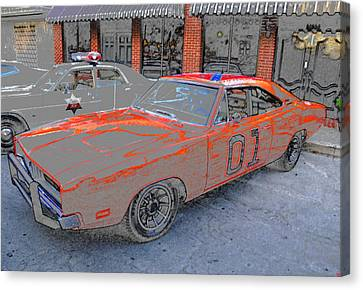 General Lee One Canvas Print by David Lee Thompson