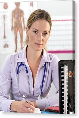 General Practice Doctor Canvas Print by Tek Image