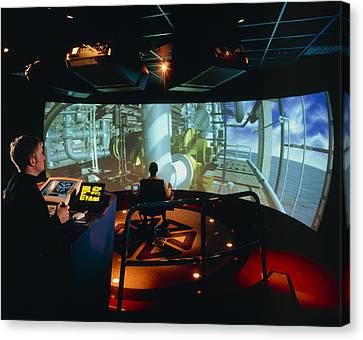 General View Of Reality Centre Simulator (oil Rig) Canvas Print by David Parker