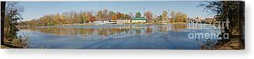 Canvas Print featuring the photograph Genesee River Panorama by William Norton