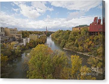 Canvas Print featuring the photograph Genesee River by William Norton