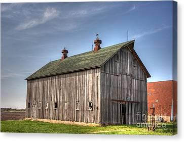 Illinois Barns Canvas Print - Genoa Farm by David Bearden