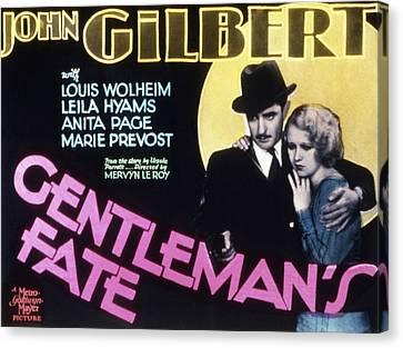 Gentlemans Fate, John Gilbert, Anita Canvas Print by Everett