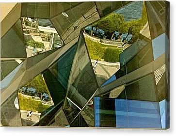 Geometric Reflections Canvas Print by Michael Cinnamond