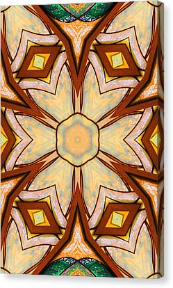 Geometric Stained Glass Abstract Canvas Print by Linda Phelps