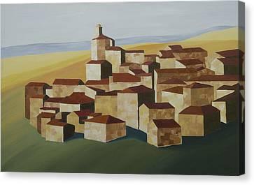 Geometric Village Spain Canvas Print