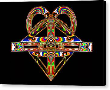 Canvas Print featuring the photograph Geometry Mask by Steve Purnell