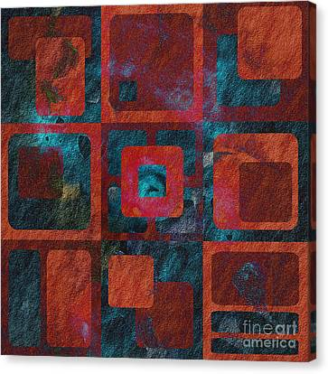 Square Abstract Canvas Print - Geomix 02 - Sp07c03b by Variance Collections