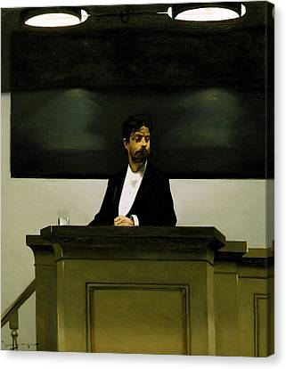 Georg Brandes  Canvas Print by Harald Slott-Moller