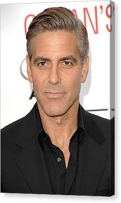 George Clooney At Arrivals For Oceans Canvas Print by Everett
