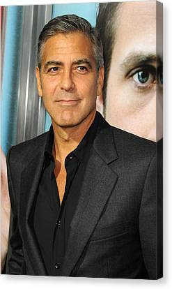 George Clooney At Arrivals For The Ides Canvas Print by Everett