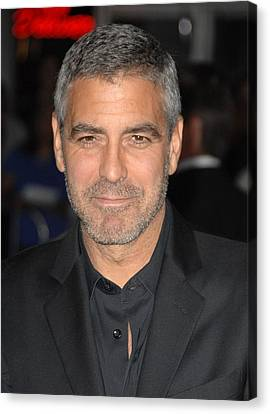 George Clooney At Arrivals For Up In Canvas Print by Everett