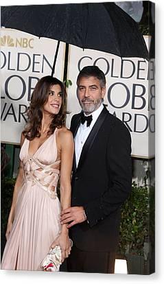 George Clooney, Elisabetta Canalis Canvas Print by Everett