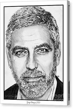 George Clooney In 2009 Canvas Print by J McCombie