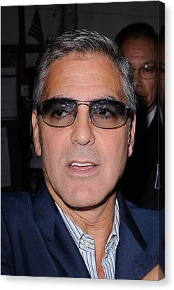 George Clooney, Leaves The Live With Canvas Print by Everett