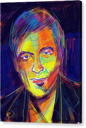 George Clooney Canvas Print by Russell Pierce