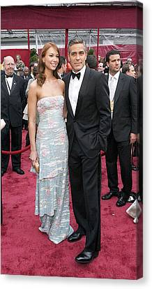 George Clooney, Sarah Larson Wearing Canvas Print
