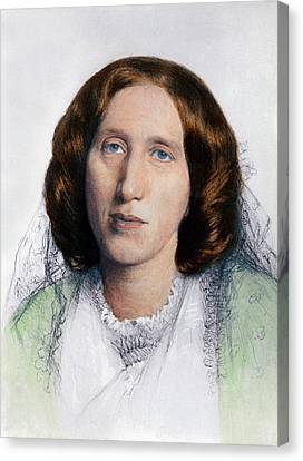 George Eliot 1819-1880 Was Born Mary Canvas Print by Everett