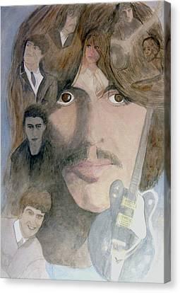 George Harrison Give Me Love Give Me Hope Canvas Print by Christian Lebraux Kennedy