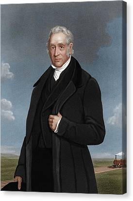 George Stephenson, British Engineer Canvas Print by Maria Platt-evans