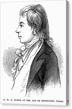 George Washington Parke Custis (1781-1857). American Playwright And Grandson Of Martha Washington. Engraving, 19th Century Canvas Print by Granger