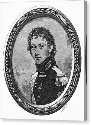 George Washington Parke Custis (1781-1857). American Playwright And Grandson Of Martha Washington. Line Engraving, 19th Century Canvas Print by Granger