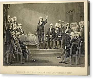 George Washington Presiding Canvas Print by Everett