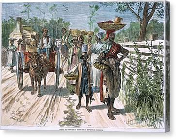 Georgia: Market, 1875 Canvas Print by Granger