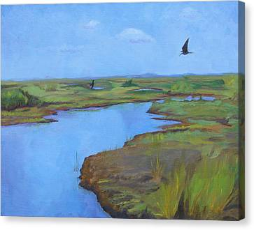 Canvas Print featuring the painting Georgia Marsh by Rachel Hames