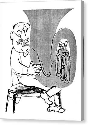 Tubist Canvas Print - Gerard Hoffnung (1925-1959) by Granger