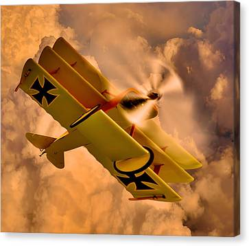 German Airplane Canvas Print by Gennadiy Golovskoy
