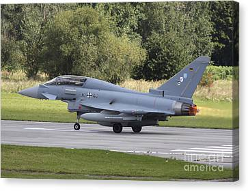 German Eurofighter Trainer Taking Canvas Print