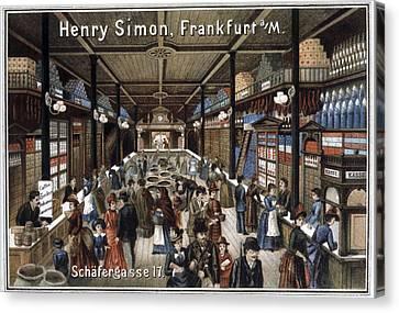 German Grocery Store, Historical Artwork Canvas Print