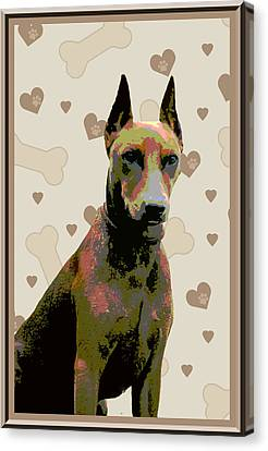 German Pinscher Canvas Print by One Rude Dawg Orcutt