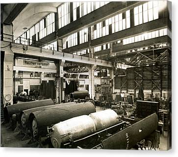 German Rocket Factory, 1943 Canvas Print by Detlev Van Ravenswaay