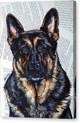German Shepherd Headshot Canvas Print by Christas Designs
