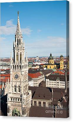 Canvas Print featuring the photograph German Town Hall by Andrew  Michael