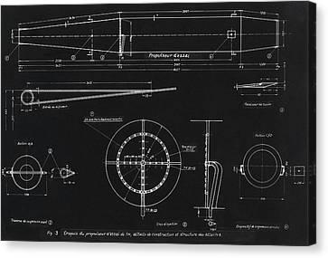 German Wwii Ramjet Engine Blueprint Canvas Print by Detlev Van Ravenswaay