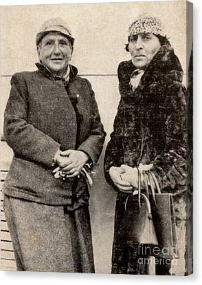 Gertrude Stein And Alice B. Toklas Canvas Print