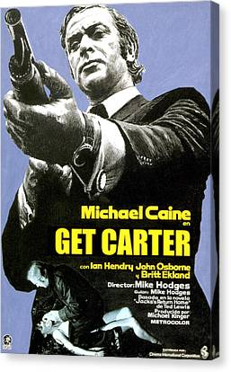 Get Carter, Michael Caine, 1971 Canvas Print by Everett