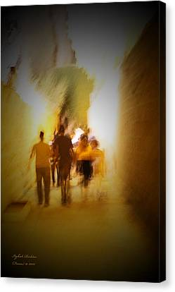 Canvas Print featuring the photograph Get-up And Walk The Country by Itzhak Richter