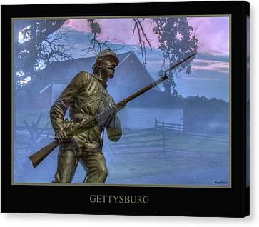 Gettysburg Battlefield Poster Canvas Print by Randy Steele