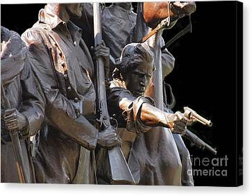 Canvas Print featuring the photograph Gettysburg Monument by Cindy Manero