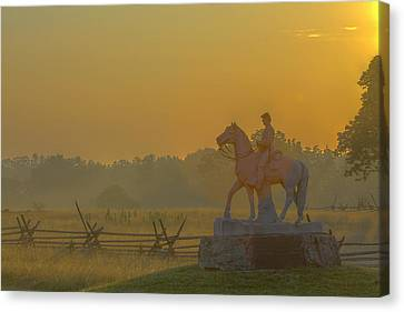 Gettysburg Morning Light Canvas Print by Randy Steele