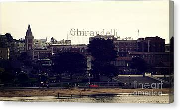 Bay Area Canvas Print - Ghirardelli Square by Linda Woods