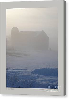 Ghost Barn Canvas Print by Patricia Overmoyer